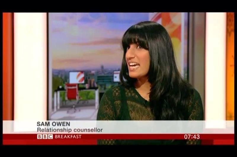 BBC Breakfast TV - Sam Owen - relationship counsellor